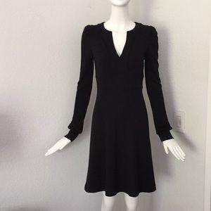 Diane Von Furstenberg Black long sleeve wool dress